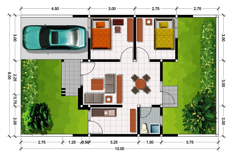 Denah dan Gambar Rumah Modern Bergaya Minimalis