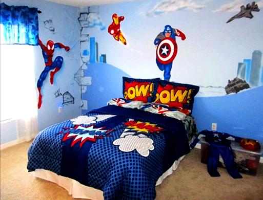Desain Kamar Tidur Lucu Untuk anak Laki-laki