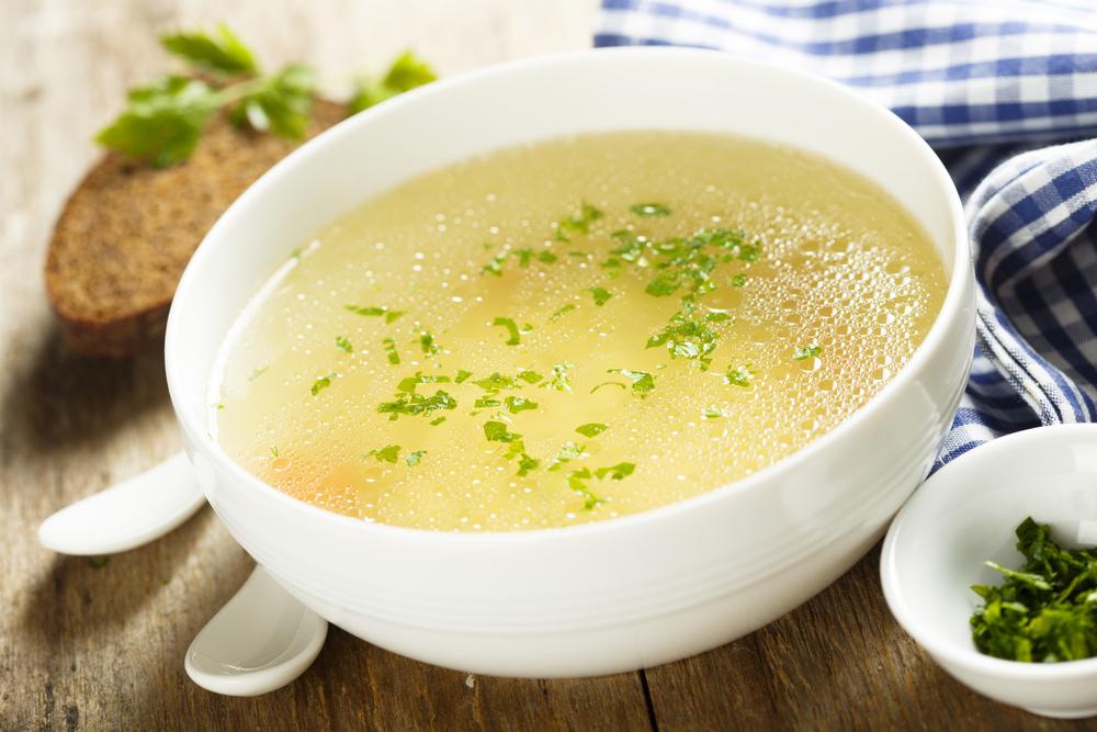 Sup ayam dengan bawang putih