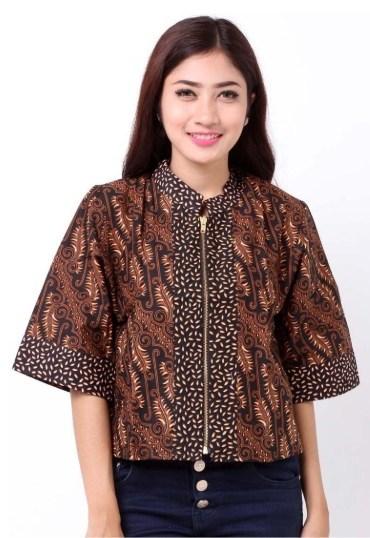 Batik Resleting Depan