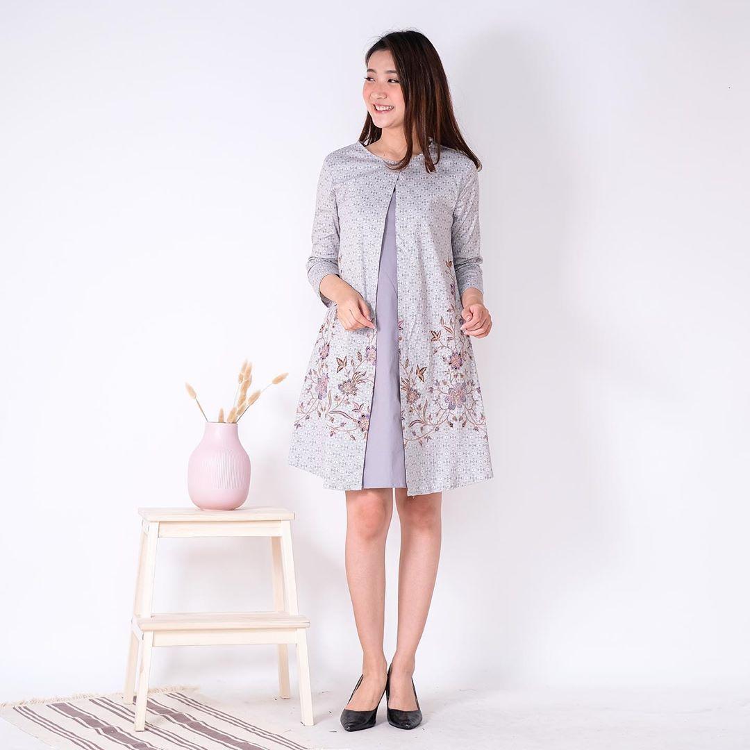 Dress Batik Lengan Panjang
